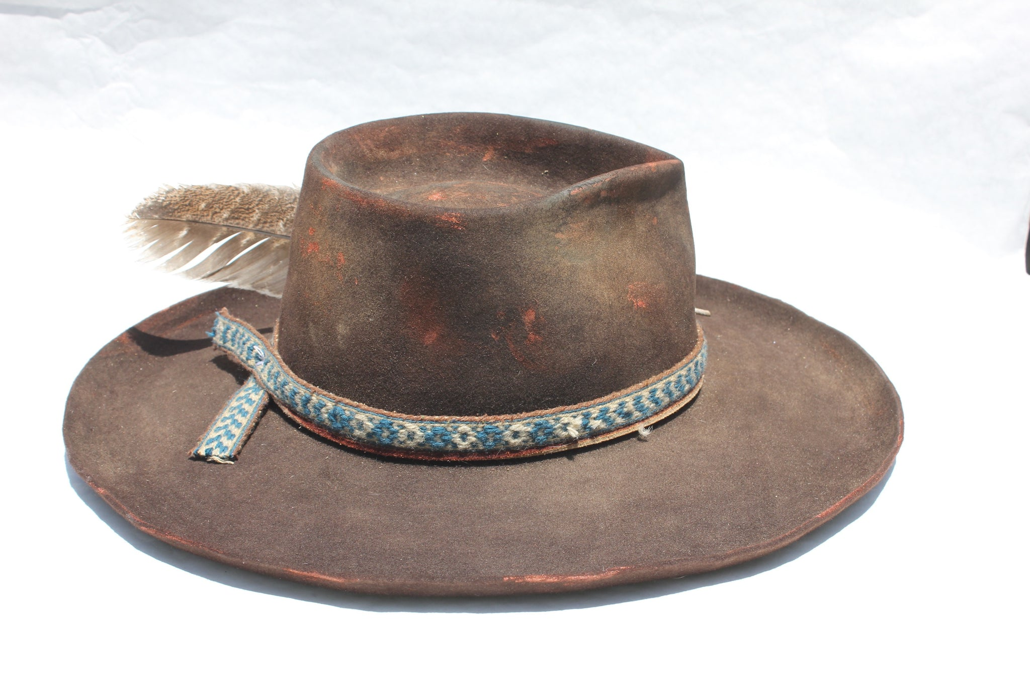 """The Copper Osprey"" Hand Painted Custom Lone Hawk Hat"