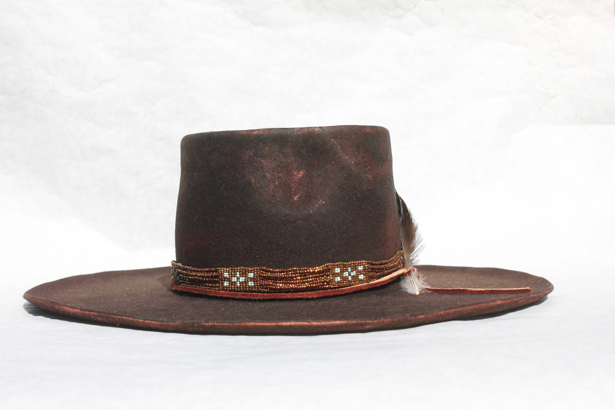 """The Lone Hawk Copper Savannah"" Custom Handmade Lone Hawk Hat"