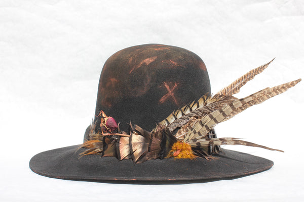 """The Voodoo Hawk"" One-Of-Kind Lone Hawk Hat"
