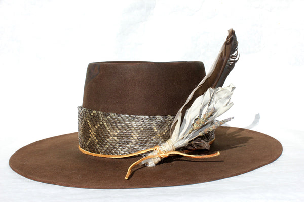 """The Snakebite Telle"" Custom Lone Hawk Hat"