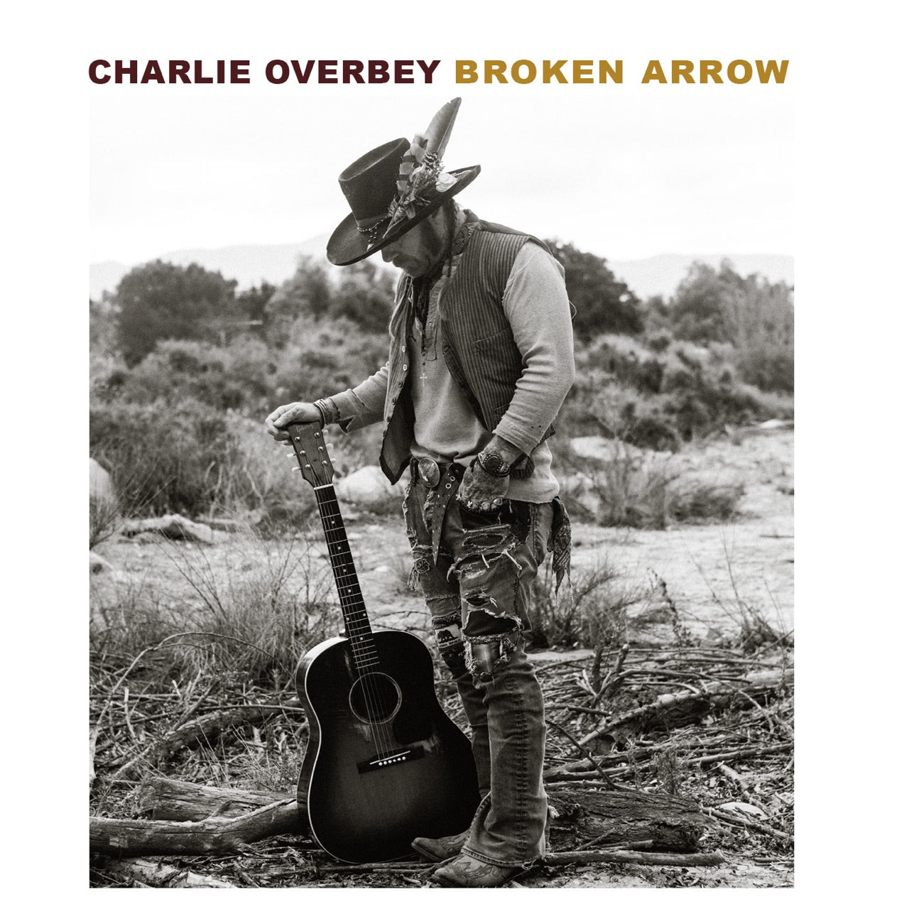 "Full Length Charlie Overbey ""Broken Arrow"" Vinyl LP Limited Edition"