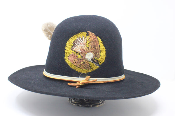 """The Whippoorwill"" Highly Customized Hand Embroidered Lone Hawk Hat"