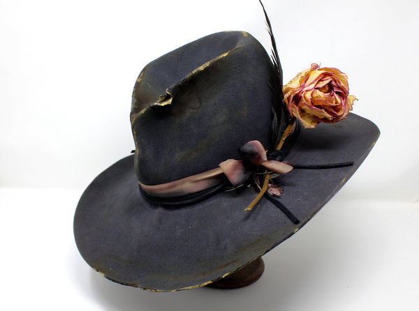 """The Ramblin' Rose"" Handmade One-of-A-Kind Lone Hawk Hat"