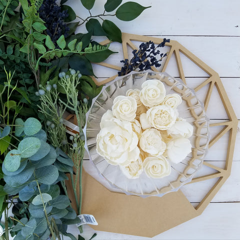 making a wooden wreath