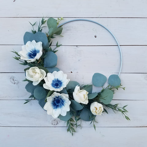 Adding sola flowers into your wreath