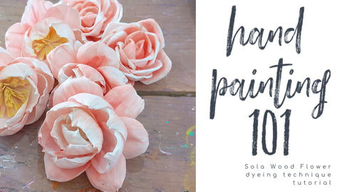 How to hand paint sola wood flowers