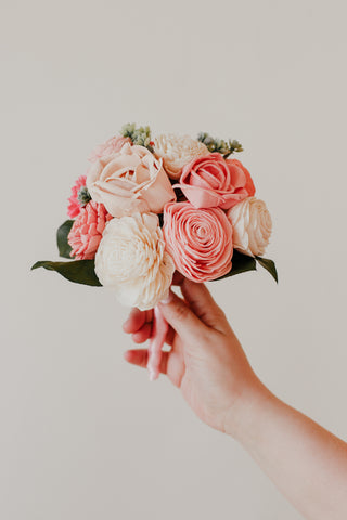 Sola Wood Flower Wedding Bouquet