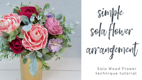 how to make a sola flower centerpiece