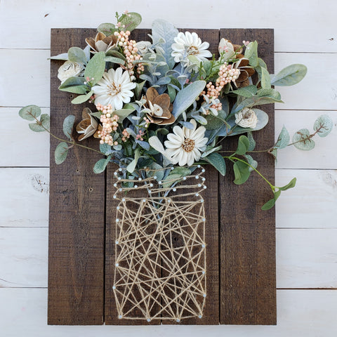 farmhouse string art piece