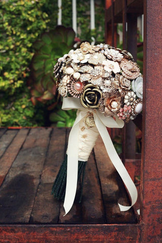 Jewelry wedding bouquet