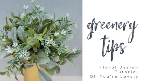 greenery tutorial sola wood flowers