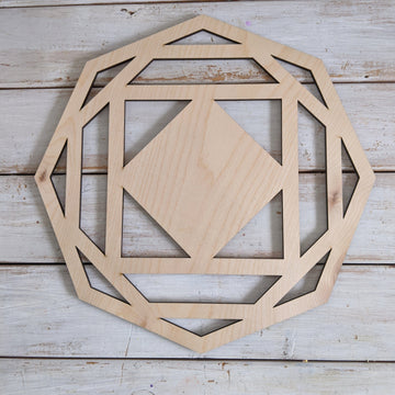 "12"" Octagon Wood Wreath Cutout _sola_wood_flowers"