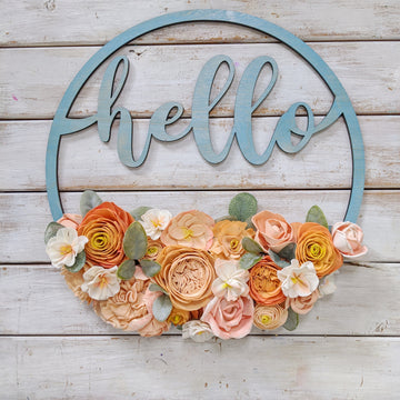 Hello Sign - Craft Kit _sola_wood_flowers
