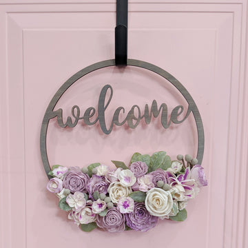 Welcome Sign - Craft Kit _sola_wood_flowers