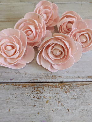 Pre-dyed Rosie - set of 6 - Light Pink _sola_wood_flowers