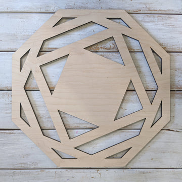 "14"" Octagon Wood Wreath Cutout _sola_wood_flowers"