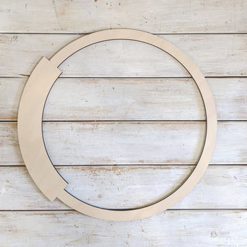 14 inch Wooden Circle Wreath _sola_wood_flowers