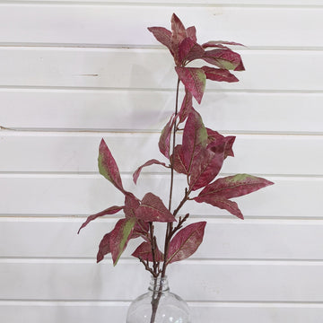 Nandina Leaves Greenery - dark red - faux _sola_wood_flowers
