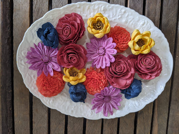 Lovely Harvest - dyed sola wood flower assortment _sola_wood_flowers