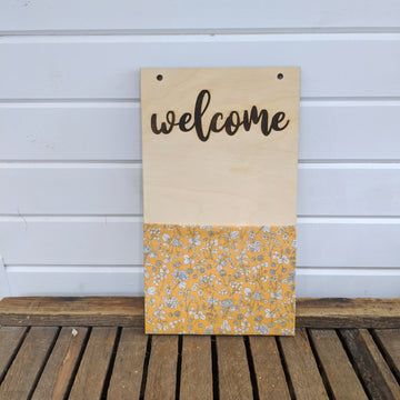 Flower Pockets™  Welcome - Orange _sola_wood_flowers