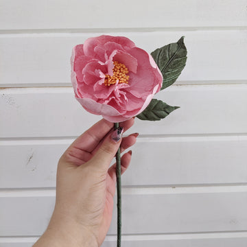 Tree Peony  - paper flower - single stem - pink _sola_wood_flowers