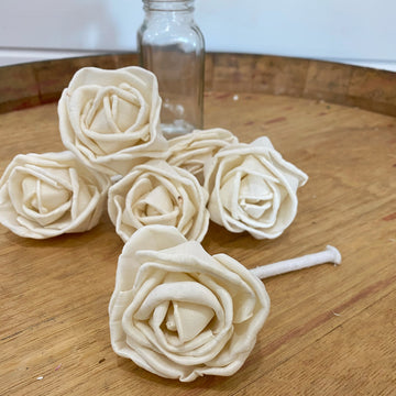 Rosa - with wick - set of 6 _sola_wood_flowers