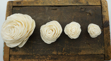 American Beauty™ Flower - set of 12 -  3 inches _sola_wood_flowers