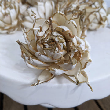 Artichoke aka Artie - set of 12-  2.5 inches _sola_wood_flowers