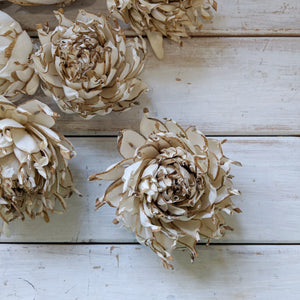 Artichoke aka Artie - set of 12-  3 inches _sola_wood_flowers