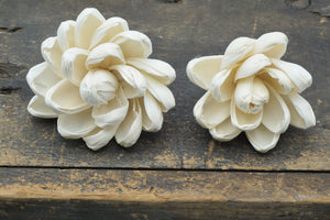 Blossom™ Flower  - set of 12-  3 inches _sola_wood_flowers