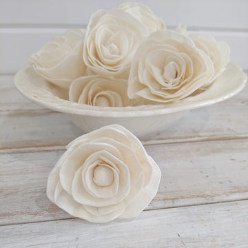 Buttercup™ Flower  - set of 12- 2.5 inches _sola_wood_flowers
