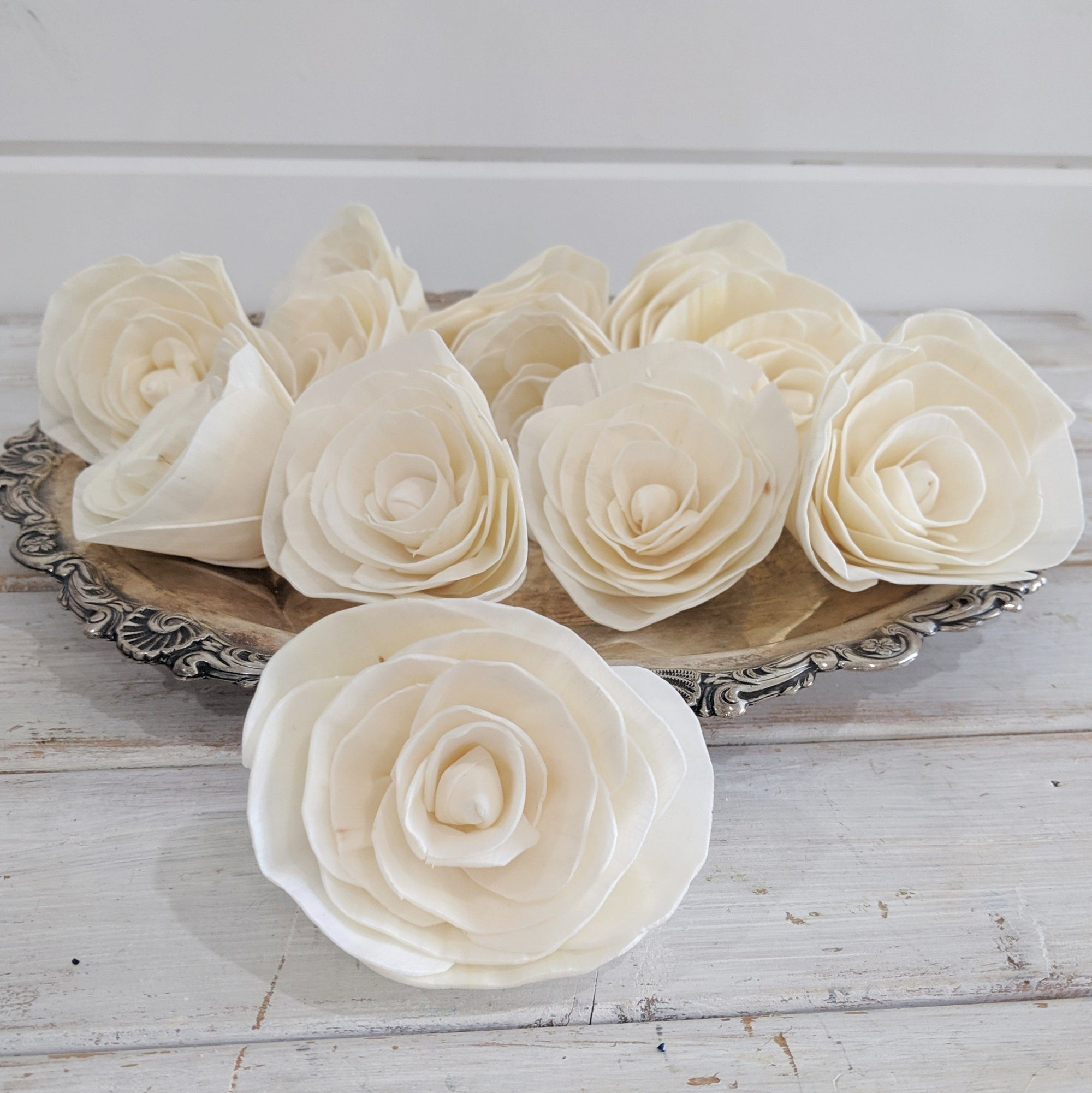 Buttercup™ Flower  - set of 12- 3 inches _sola_wood_flowers