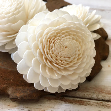 Button™- set of 6 _sola_wood_flowers