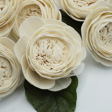 Cabbage Rose - Bulk Wholesale 100 Pack - 2.5 inches _sola_wood_flowers