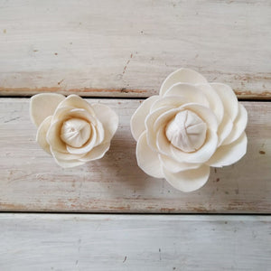 Camellia™- set of 12-  2.5 inches _sola_wood_flowers