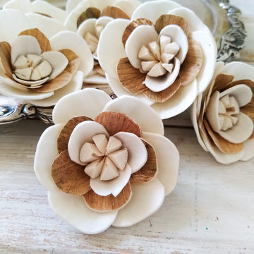 Charm™- set of 12-  2.5 inches _sola_wood_flowers