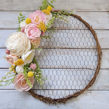 Chicken Wire Wreath - Craft Kit _sola_wood_flowers