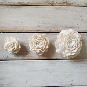 Clara™ Rose  - set of 12-  2.5 inches _sola_wood_flowers