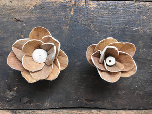 Cleo™ Flower  - set of 12- 2.5 inches _sola_wood_flowers