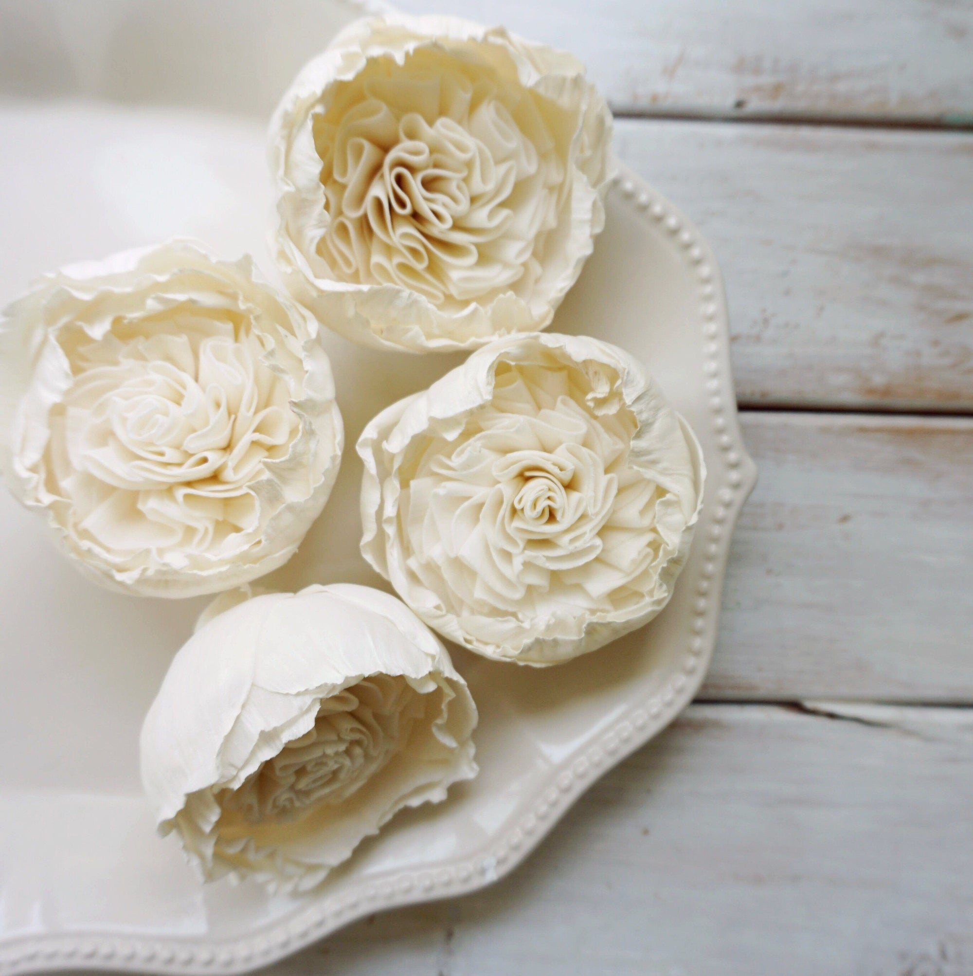 Cottage Rose - Set of 3 _sola_wood_flowers