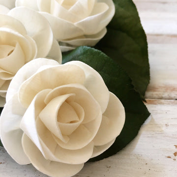 Dainty™ Rose, 3 inches - set of 6 _sola_wood_flowers