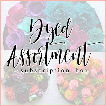 Dyed Assortment - Monthly Subscription Box _sola_wood_flowers