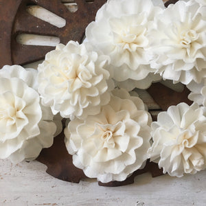 Elsie™- set of 6 - 2  inches _sola_wood_flowers