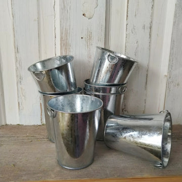 Galvanized Bucket -4 inches _sola_wood_flowers