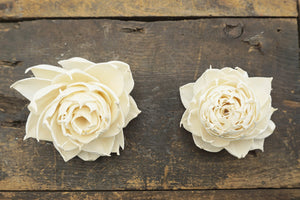 Garden Rose™- set of 12- 2.5 inches _sola_wood_flowers
