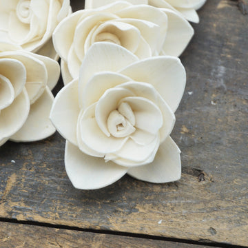 Gardenia Flower  - set of 12- 1.5 inches _sola_wood_flowers