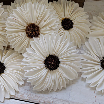 Gerbera- set of 12 - 3 inches _sola_wood_flowers