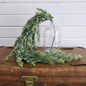 Large Ruscus Leaves- Artificial Hanging Greenery - 33 inches _sola_wood_flowers