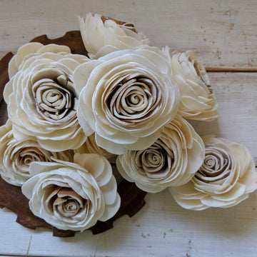Harvest Rose™- set of 12- 1.5 inches _sola_wood_flowers