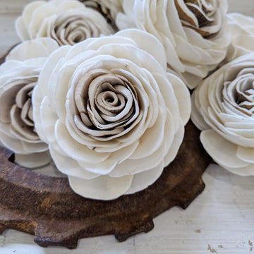 Harvest Rose™- set of 12- 2.5 inches _sola_wood_flowers